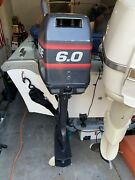 1998 Evinrude 6.0hp Outboard Motor 20andrdquo Shaft