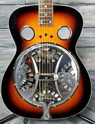 Used Regal Resonator Round Neck Acoustic Guitar With Case