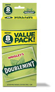 Wrigley's Doublemint Chewing Gum, 6 Value Packs 48 Packs Total