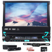 Single 1 Din 7 Car Dvd Cd Player Stereo In Dash Flip Out Touch Screen Tv Camera
