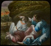 Antique Magic Lantern Slide Lot And His Daughters C1890 Religion Bible Story