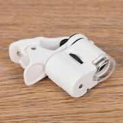 Jewelry Magnifier 60x Enlarge Clip-on Microscope Loupe Smart Phone Led Light