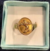Disney Cast Member 14k Gold Women 20 Year Service Award Mickey Mouse Ring Size 8