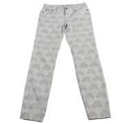 Vineyard Vines White And Gray Flower Design Stretchy Pants Womenand039s Size 6