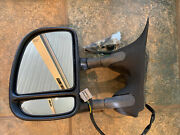 Side View Mirror Tow Power Adjust Black Driverside For Ford Excursion Used