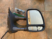 Side View Mirror Tow Power Adjust Black Passenger Side For Ford Excursion Used