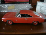 Danbury Mint 1968 Dodge Charger Red Replica 1/24