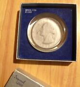 Imperial Lenox Collector Paperweight Series Washington Quarter 3-1/4 In Dia.