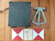 Real French Army Foreign Legion Artillery Clinometer Fennel Survey Scope Box Od