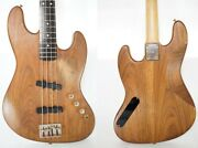 Moon Jj-4 Jazz Bass Walnut Pgm Active Pickup Type Oil Finish Made In Japan Used