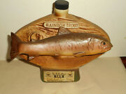 National Freshwater Fishing Hall Of Fame 1975 Rainbow Trout Jim Beam Decanter