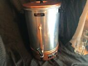 Tricolator 32 Cup Coffee Percolator Copper/stainless Model Tm 5o Ge