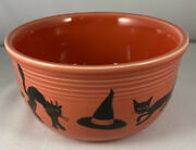 Fiestaware Halloween Black Cats Witch's Hats Gusto Bowl Persimmon Fiesta Hlc Usa