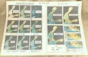 1925 Antique Map Of Finland Sea Currents Ice Conditions Hydrology Climate Chart