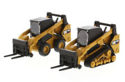 Cat 272d2 And 297d2 Track And Skid Steer Loader 1/64 By Diecast Masters 85693