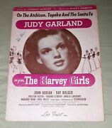 Judy Garland The Harvey Girls Sheet Music On The Atchison Topeka And The Santa Fe