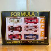 Tomica Tomica F1 Champion Set With Doll Formula-1 Gift Set G48 Vintage With Box