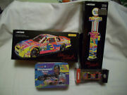 Lot 2000 Dale Earnhardt 1 64 And 1/24 Peter Max Gmgw 1/16 Gas Pump Tin Set + Pin