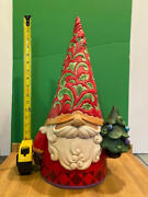 Jim Shore -hwc - Christmas Gnome With Tree - Large 20 Nd6009187 New For 2021