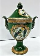 United Wilson Collectible Porcelain Green Vase Juwc 1897 Made Rep. Of China 13