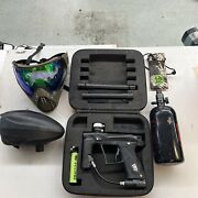 Gtek Eclipse Paintball With Extras Mask Tank Automatic Hopper Dye