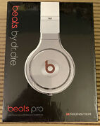 Monster Beats By Dr. Dre Beats Pro Over The Ear Wired Headphones-white Brand New