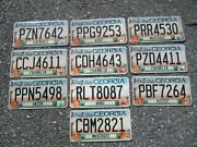 Lot Of 10 Georgia License Plate Plates Peach Orchard Ga Counties Lot Pbf 7264