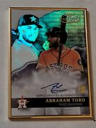 2020 Topps Gold Label Abraham Toro Rare Sp 27/50 Blue Auto Rc Gla-at Mariners