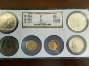 Us Statue Of Liberty 6 Coin Set Ms-69 And Pf-69 Low Mintage On The Gold Proof