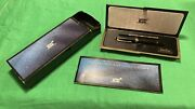 Mont Blanc Ballpoint Pen Set With Case Book Box And Refill Black Gold