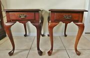 Beautiful Pair Antique/vintage Pennsylvania House Mahogany Wood Side/end Tables