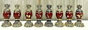 Franklin Mint House Of Faberge Imperial Jeweled Complete Chess Set Pieces 24kgp
