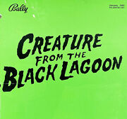 Bally Creature From The Black Lagoon Pinball Machine Wpc Schematic Manual Combo