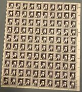 Scott 1294 Us Stamp 1967 1 Prominent Americans Eugene Oand039neill Sheet Of 100