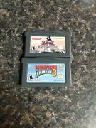 Game Boy Advance Game Lot Yu-gi-oh The Sacred Cards And Donkey Kong Country 3