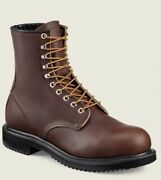 New Mens 9 E3 Red Wing Supersole 2233 Laceup Steel Toe Eh Brown Work Boots