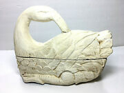 Antique Collectible Decoy Hand Carved Wooden Slipping Duck Figurine/trinket Box