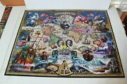 White Mountain Great Explorers World Map 1000 Piece Jigsaw Puzzle