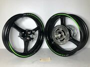 New 2021 Kawasaki Zx-10r Wheels Front And Rear Rims Assembly With Axle Oem