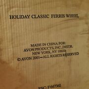 New Avon Christmas Holiday Classic Ferris Wheel Porcelain Wind Up Musical 2001