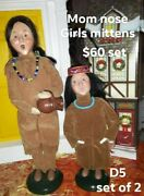 Byers Choice Native American /indian Figures Both Need Tlc