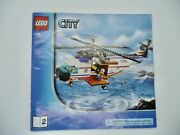 Lego 7738 Manual 2 Only City Coast Guard Helicopter, Life Raft. Used