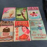 6-piece Tin Signs Vintage Style Metal Signs Wall Dandeacutecor Funny New Shipped Today