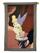 Disney Shopping.com Exclusive Tinkerbell Wall Hanging Tapestry Rare Discontinued