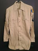 Ww2 Us Army Air Force Menand039s Dress Shirt Size 40 Chest Technical Sergent