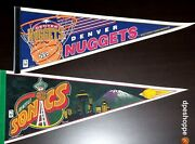 Nuggets Sonics 2- Full Size Basketball Wincraft Pennants Mancave-party-bar