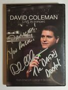 David Coleman Live In Concert Dvd - Signed- The Dating Doctor