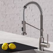 Kraus Kpf-1610ss Bolden 18-inch Commercial Kitchen Faucet With Dual Function Pul