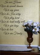 In Our Home Family Vinyl Design Letters Wall Decor New