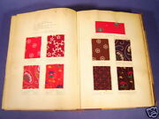 Original Pattern Samples Of Dyed Cloth - 1906
